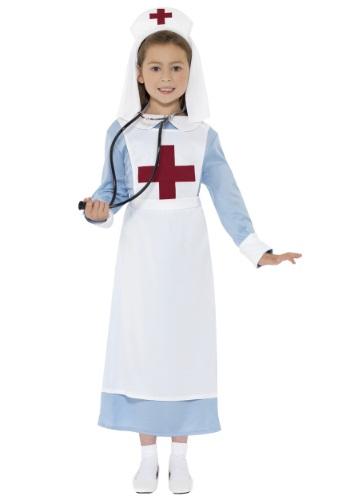Girls WWI Nurse コスチューム クリスマス ハロウィン 子ども コスプレ 衣装 仮装 こども イベント 子ども パーティ ハロウィーン 学芸会