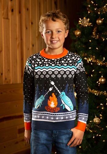 チャイルド Narwhal Ugly Christmas Sweater クリスマス ハロウィン 子ども コスプレ 衣装 仮装 こども イベント 子ども パーティ ハロウィーン 学芸会
