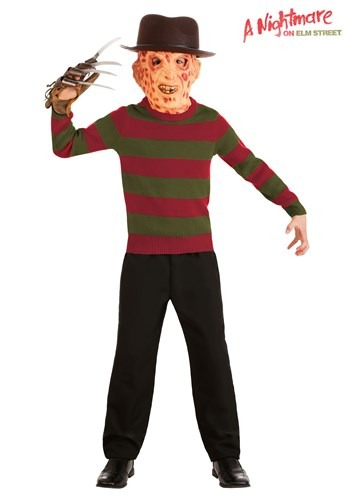 【ポイント最大29倍●お買い物マラソン限定!エントリー】キッズ ナイトメア on Elm Street Striped Freddy Krueger Sweater ハロウィン 子ども コスプレ 衣装 仮装 こども イベント 子ども パーティ ハロウィーン 学芸会