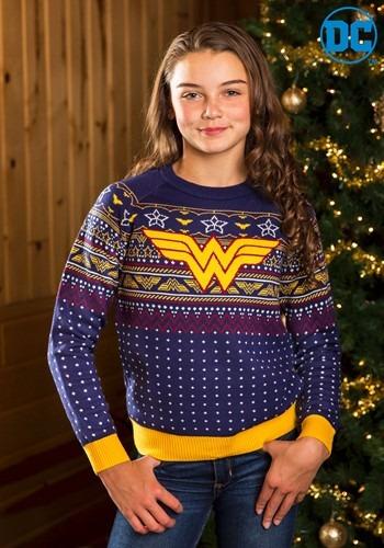 【ポイント最大29倍●お買い物マラソン限定!エントリー】チャイルド Wonder Woman Navy Ugly Christmas Sweater ハロウィン 子ども コスプレ 衣装 仮装 こども イベント 子ども パーティ ハロウィーン 学芸会