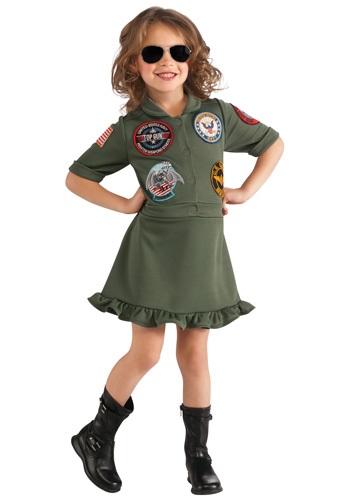 【ポイント最大29倍●お買い物マラソン限定!エントリー】Girls Top Gun Flight Dress コスチューム ハロウィン 子ども コスプレ 衣装 仮装 こども イベント 子ども パーティ ハロウィーン 学芸会