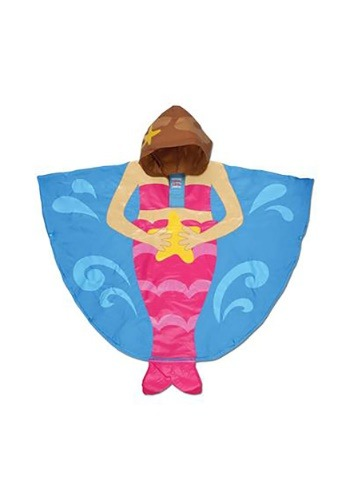 マーメイド 人魚 Stephen Joseph Rain Poncho クリスマス ハロウィン 子ども コスプレ 衣装 仮装 こども イベント 子ども パーティ ハロウィーン 学芸会