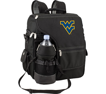 Picnic Time Turismo West Virginia U Mountaineers Embroidered - Black バッグ 鞄 かばん バックパック リュックサック