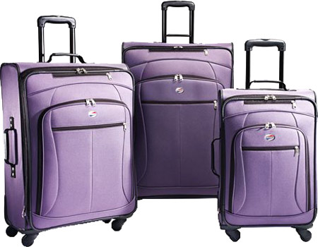 American Tourister AT POP 3 Piece Spinner Set - Purple バッグ 鞄 かばん