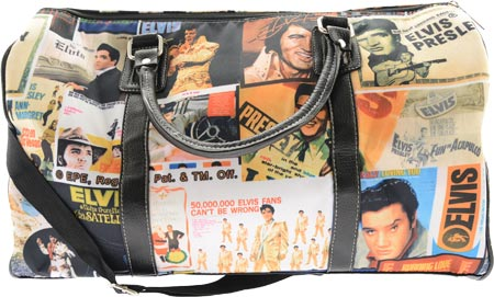エルビスプレスリー シグネチャー プロダクト Elvis Presley Signature Product Elvis Lifetime Collage Overnight Bag - Multicolored バッグ 鞄 かばん