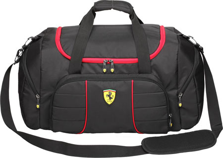 Ferrari Overnight Bag - Black バッグ 鞄 かばん