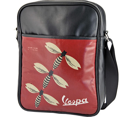 ベスパ Vespa Shoulder Bag - Black Red Wasps バッグ 鞄 かばん