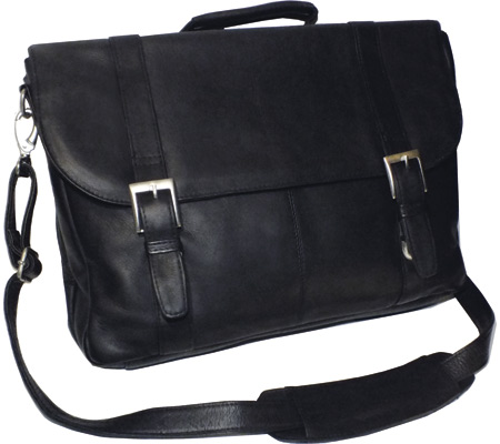 ロイス レザー Royce Leather Vaquetta Triple Compartment Laptop Briefcase - Black バッグ 鞄 かばん