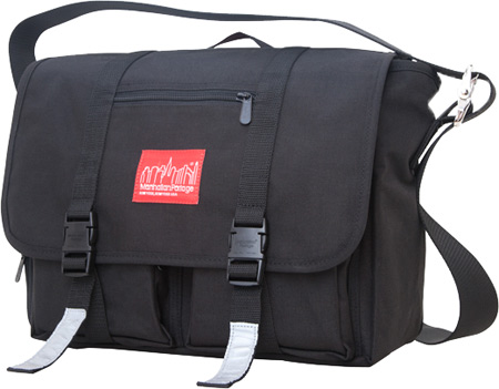 マンハッタン ポーテージ Manhattan Portage Trotter Messenger Bag Jr. (Medium) - Black バッグ 鞄 かばん