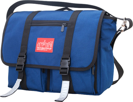 マンハッタン ポーテージ Manhattan Portage Trotter Messenger Bag Jr. (Medium) - Navy バッグ 鞄 かばん