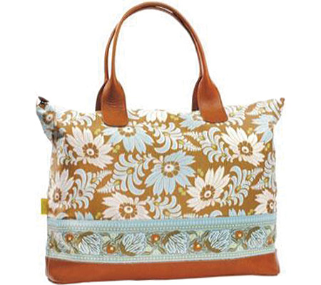 Amy Butler Marni Duffle - Turquoise Fern Flower バッグ 鞄 かばん