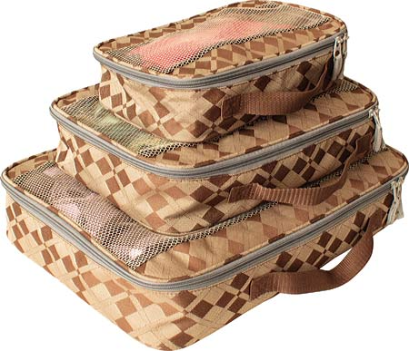 American Flyer Travelware Argyle 3-Piece Packing Cubes - Brown バッグ 鞄 かばん