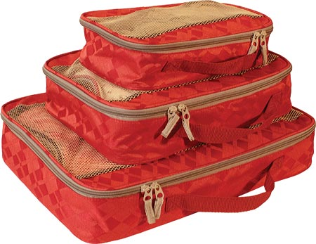 American Flyer Travelware Argyle 3-Piece Packing Cubes - Red バッグ 鞄 かばん