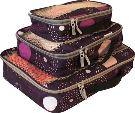American Flyer Travelware Fireworks 3-Piece Packing Cubes - Purple バッグ 鞄 かばん