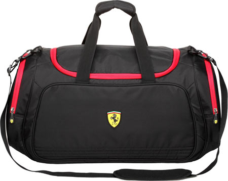 Ferrari Sport Bag- Large - Black バッグ 鞄 かばん