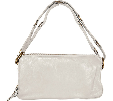 ラチコ Latico Mimi Triple Zip E W Shoulderbag 2524 - Metallic White Leather バッグ 鞄 かばん