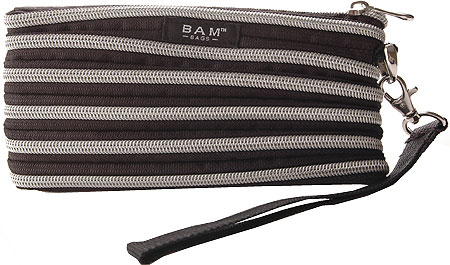 BAM BAGS The Original Zippurse Wristlet (2 units) - Black Silver バッグ 鞄 かばん