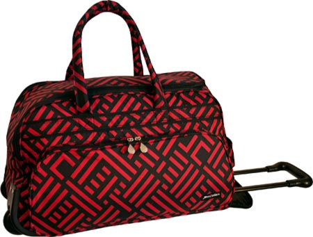 Jenni Chan Signature Soft Carry All Duffel - Black Red バッグ 鞄 かばん ダッフルバッグ