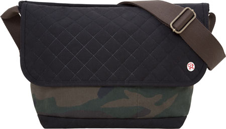 Token Quilted And Waxed Washington Messenger Bag - Camouflage Black バッグ 鞄 かばん メッセンジャーバッグ