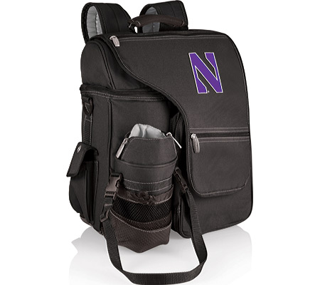 Picnic Time Turismo Northwestern University Wildcats Print - Black バッグ 鞄 かばん バックパック リュックサック