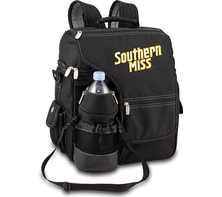 Picnic Time Turismo Southern Miss Golden Eagles Embroidered - Black バッグ 鞄 かばん バックパック リュックサック