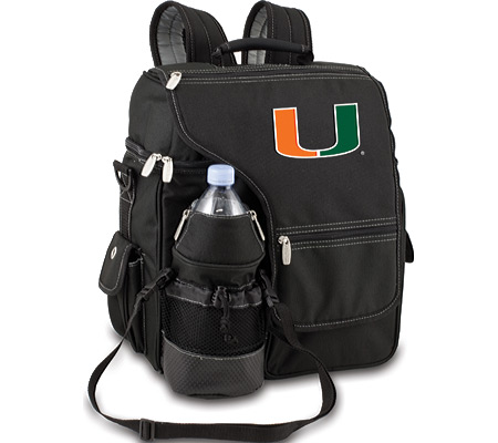 Picnic Time Turismo Miami Hurricanes Print - Black バッグ 鞄 かばん バックパック リュックサック
