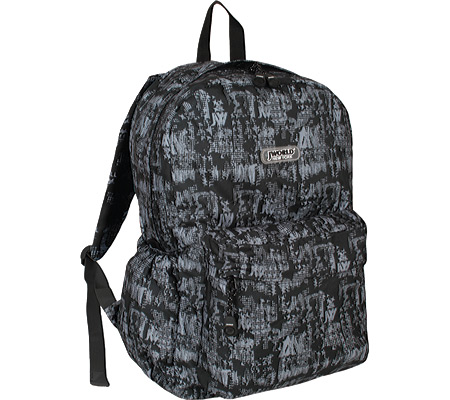 376ffcef2b9e JWorld New York Laptop Backpack - Frost Black バッグ 鞄 かばん バックパック リュックサック  Oz-その他