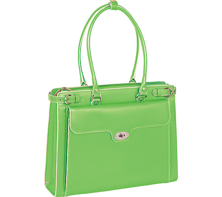 McKlein Winnetka - Green Italian Leather バッグ 鞄 かばん