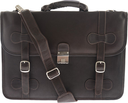 ピエルレザー Piel Leather XXL Flap Over Portfolio 2007 - Chocolate Leather バッグ 鞄 かばん