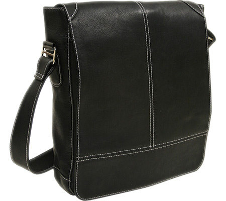 ピエルレザー Piel Leather Urban Vertical Messenger Bag 2875 - Black Leather バッグ 鞄 かばん