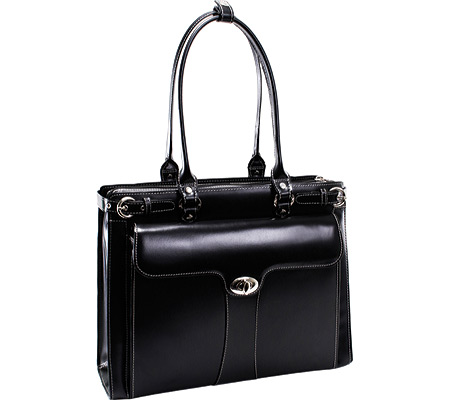 McKlein Quincy - Black Italian Leather バッグ 鞄 かばん