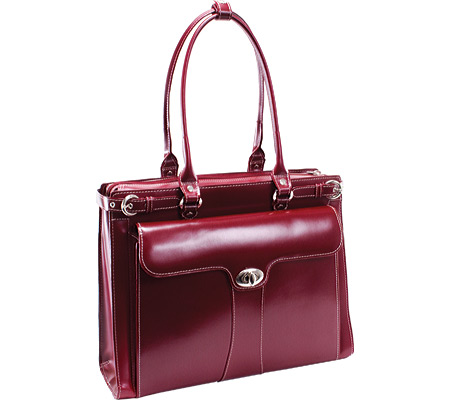 McKlein Quincy - Red Italian Leather バッグ 鞄 かばん