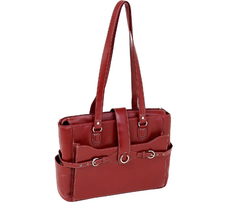 McKlein Isabella - Red Italian Leather バッグ 鞄 かばん