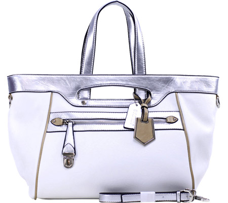 Dasein Tote Bag 2741-220448 - White Silver バッグ 鞄 かばん ハンドバッグ