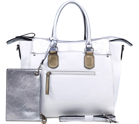 Dasein Tote Bag 2741-220419 - White Silver バッグ 鞄 かばん ハンドバッグ