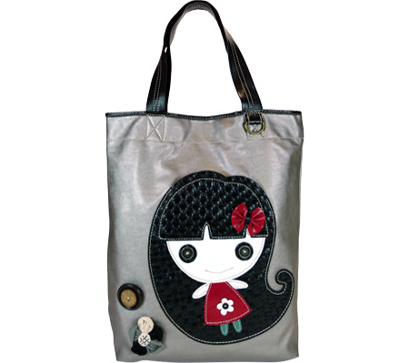 Chala Smiley Girl Everyday Tote - Silver Silver バッグ 鞄 かばん ハンドバッグ