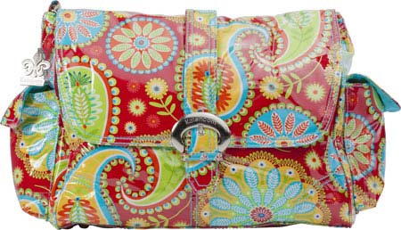 Kalencom Laminated Buckle Bag - Gypsy Paisley Red バッグ 鞄 かばん ハンドバッグ