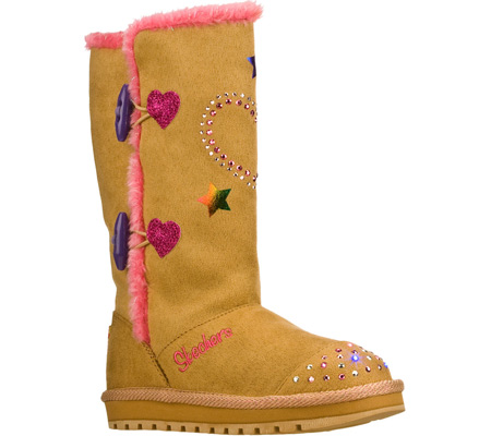 スケッチャーズ Skechers Twinkle Toes Keepsakes Heart Sparkler - Natural Hot Pink 子供 キッズ シューズ 靴