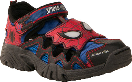 ストライドライト Stride Rite Spider-man Lighted Shandal - Red Blue Leather Mesh 子供 キッズ シューズ 靴