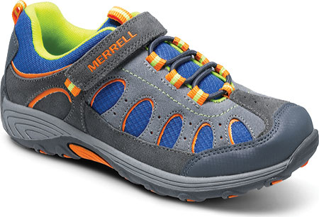 メレル Merrell Chameleon Low A C Waterproof - Grey Blue Suede Mesh 子供 キッズ シューズ 靴