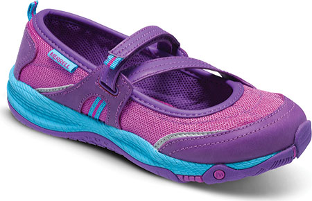 メレル Merrell Allout MJ - Purple Turq Synthetic Mesh 子供 キッズ シューズ 靴
