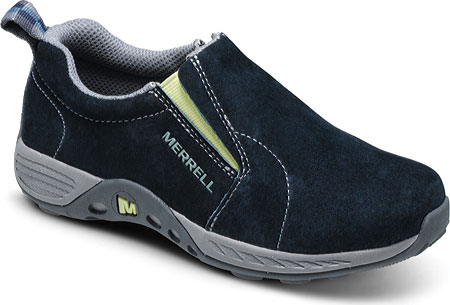 メレル Merrell Jungle Moc Sport - Navy Citron Suede 子供 キッズ シューズ 靴