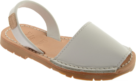 Castell Flat Menorquinas - White Leather 子供 キッズ シューズ 靴