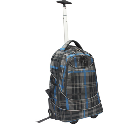 US Traveler Horizon Rolling Computer Backpack - Gray Plaid バッグ 鞄 かばん バックパック リュックサック