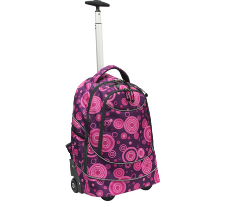 US Traveler Horizon Rolling Computer Backpack - Purple Bubbles バッグ 鞄 かばん バックパック リュックサック