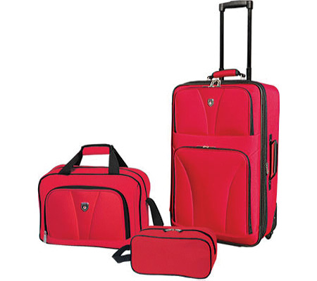 Travelers Club Bowman 3 Piece Expandable Value Set - Red バッグ 鞄 かばん