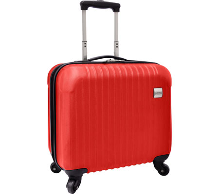 US Traveler Belfort Carry-On Spinner Briefcase - Cherry Red バッグ 鞄 かばん