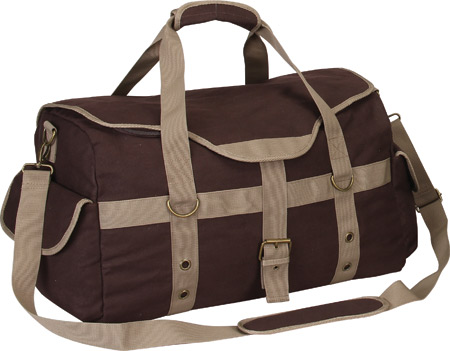 Preferred Nation P4688 Expresso Canvas Duffle - Brown バッグ 鞄 かばん