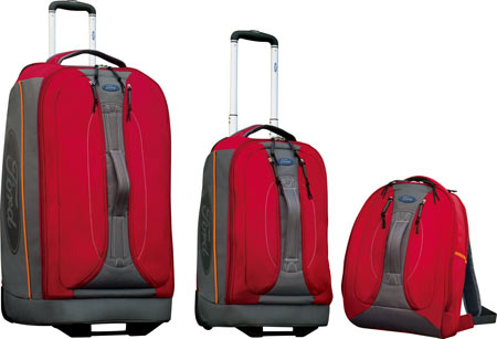 FORD Motors 3 Piece Upright Duffel Set - Red Grey バッグ 鞄 かばん