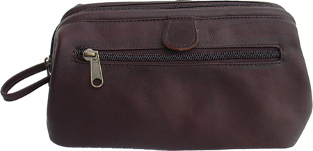 ピエルレザー Piel Leather Deluxe Top Frame Traveling Kit 9056 - Chocolate Leather バッグ 鞄 かばん